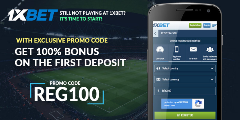 1xBet Promo Code «REG100» On 100% First Deposit Bonus